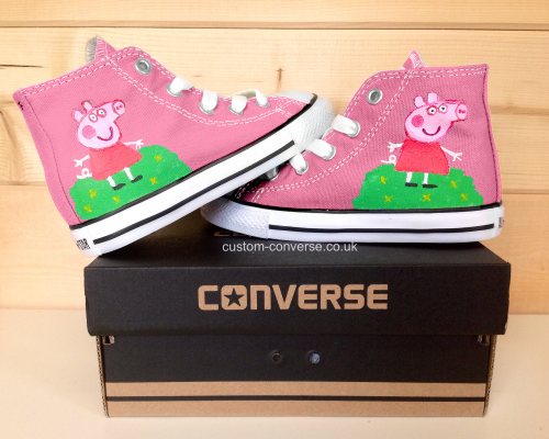 Kids Peppa Pig High-top Painted Canvas Shoes