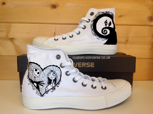 Jack and Sally Painted Canvas Shoes