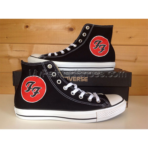 Foo Fighters Low-top Painted Canvas Shoes