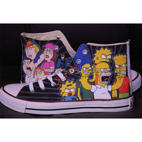 The Simpsons Converse All Star Men Women-1