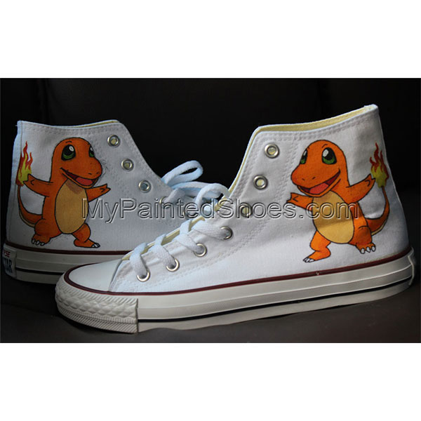 Charmander High-top Painted Canvas Shoes