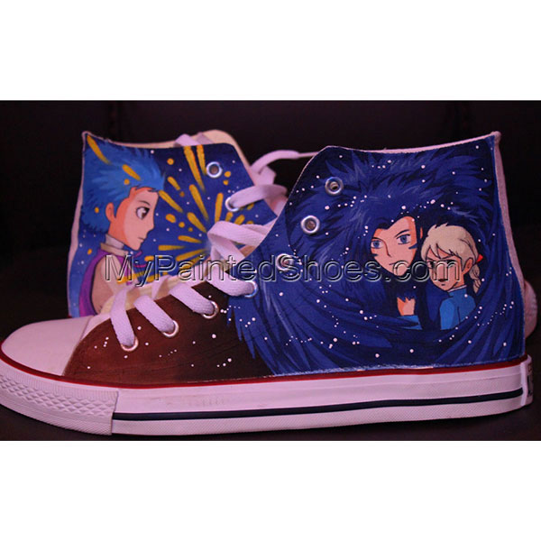 Custom Anime Converse High-top Painted Canvas Shoes