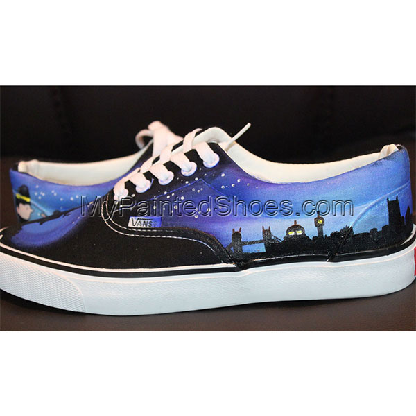 Custom Vans Low-top Painted Canvas Shoes-2