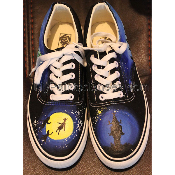 Custom Vans Low-top Painted Canvas Shoes