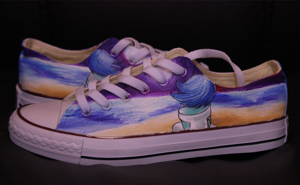 Custom Converse Low-top Painted Canvas Shoes-1