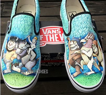 Vans Slip On Shoes Water Proof Hand Painting Wild Beasts Canvas -1