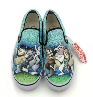 Vans Slip On Shoes Water Proof Hand Painting Wild Beasts Canvas