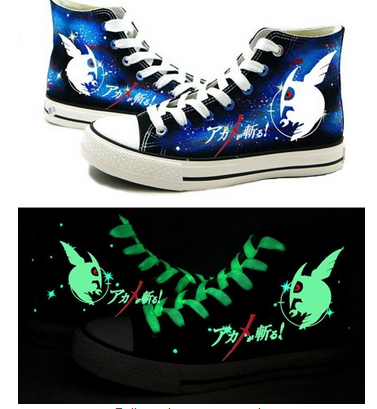 Akame ga KILL! Anime Night Raid Logo Cosplay Shoes Canvas Shoes