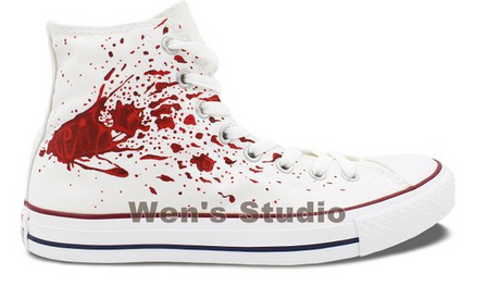 Anime Converse Chuck Taylor Shoes Men Hand Painted Tokyo Ghoul C-1