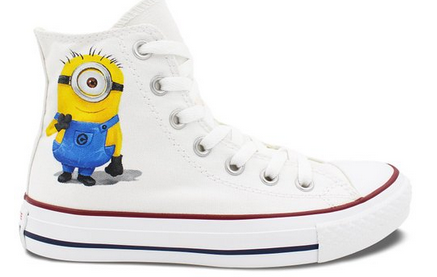 Minions Converse All Star Men Women Hand Painted Customizable Hi-1