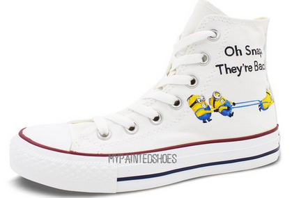 Minions Converse All Star Men Women Hand Painted Customizable Hi-2