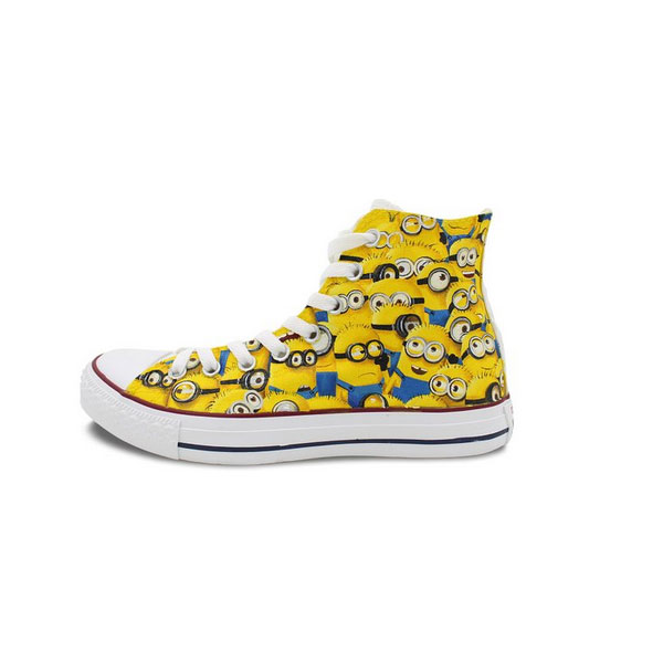 Custom Converse Minions Painted Shoes All Star High Top Unique C