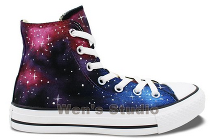 Washable Galaxy Hand Painted Converse All Star Shoes Unique Gift-1