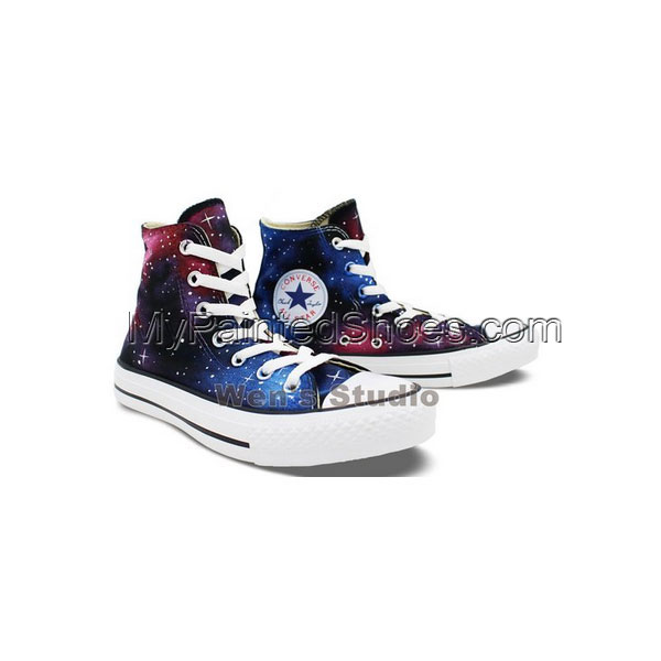 Washable Galaxy Hand Painted Converse All Star Shoes Unique Gift-2