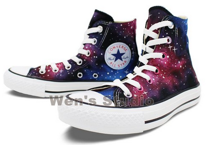 Washable Galaxy Hand Painted Converse All Star Shoes Unique Gift-3