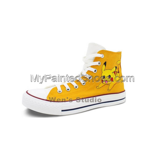 Pokemon Pikachu Converse All Star Shoes Boys Girls Hand Painted -2