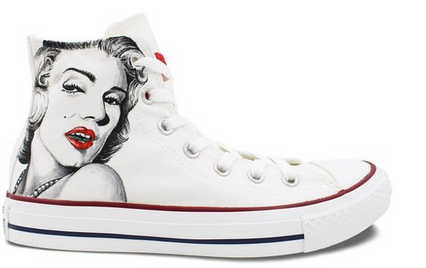 Womens Converse All Star Shoes Marilyn Monroe Custom Hand Painte-1