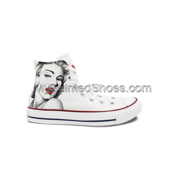 Womens Converse All Star Shoes Marilyn Monroe Custom Hand Painte