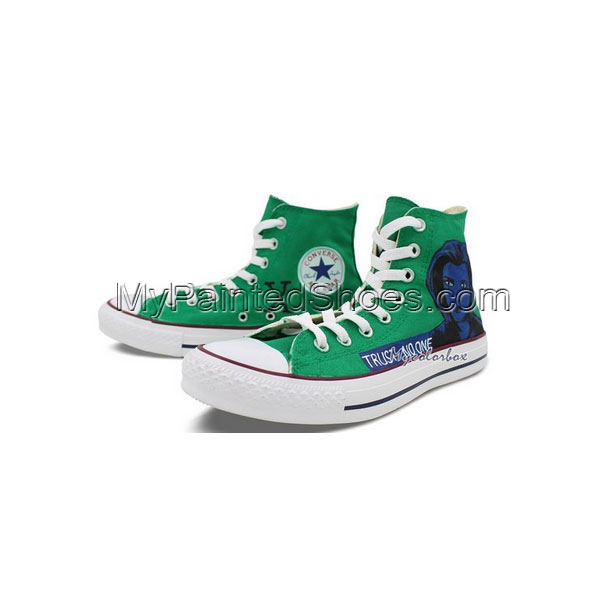 Custom Design Converse Shoes X-Files Hand Painted High Top All S-2