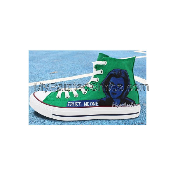 Custom Design Converse Shoes X-Files Hand Painted High Top All S-3