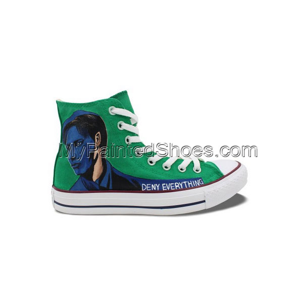 Custom Design Converse Shoes X-Files Hand Painted High Top All S