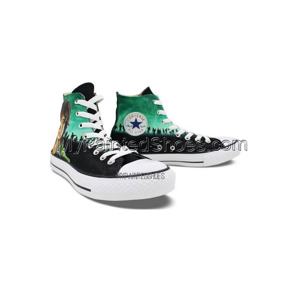Custom Converse All Star Zombies Hand Painted Men Women High Top-2