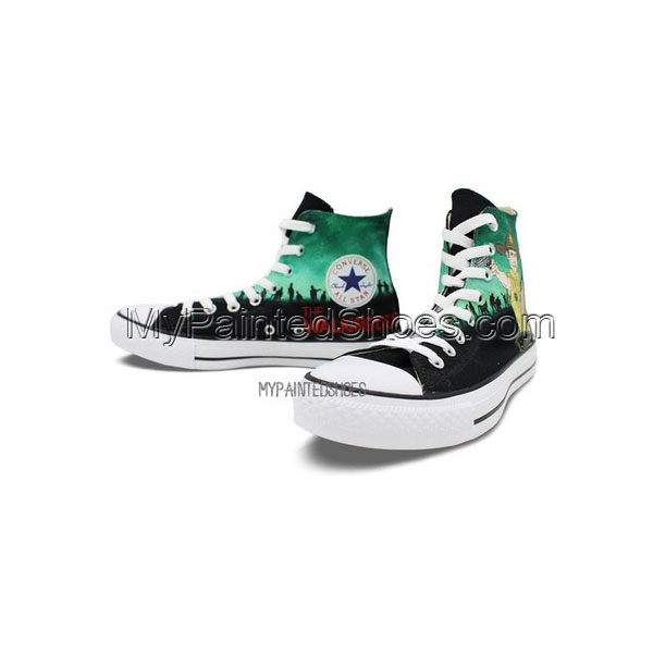 Custom Converse All Star Zombies Hand Painted Men Women High Top-3