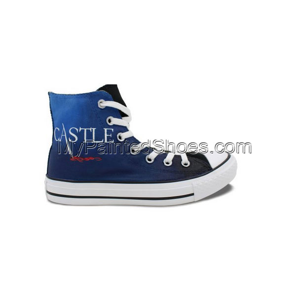 High Top Sneaker Converse All Star Castle Hand Painted Unique Ca