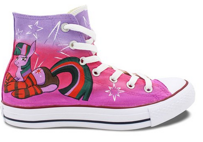 Womens Converse Shoes Cute Pony Hand Painted All Star High Top C-1