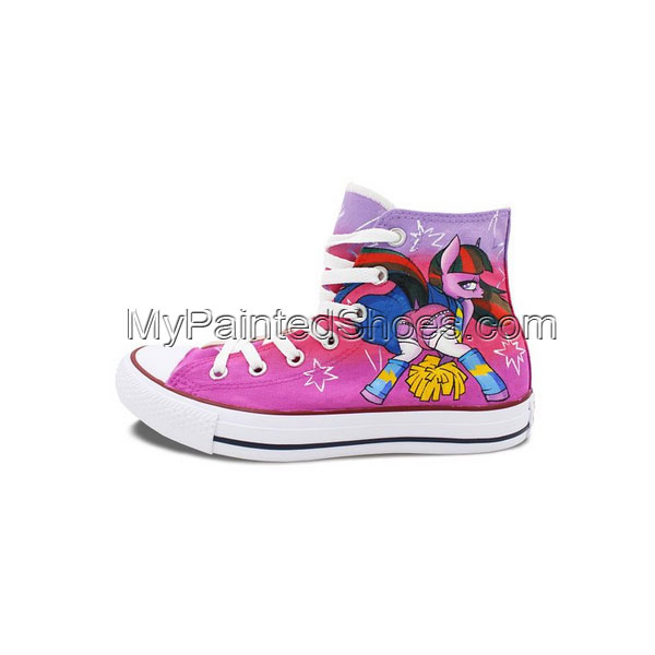 Womens Converse Shoes Cute Pony Hand Painted All Star High Top C