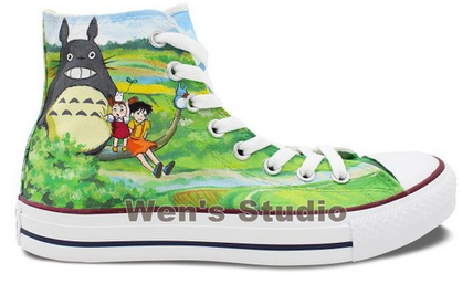 Converse Chuck Taylor Totoro Shoes High Top Neighbor Totoro Pain-1