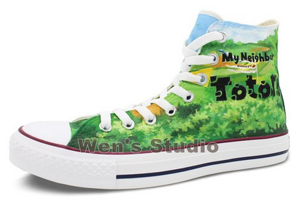 Converse Chuck Taylor Totoro Shoes High Top Neighbor Totoro Pain-2