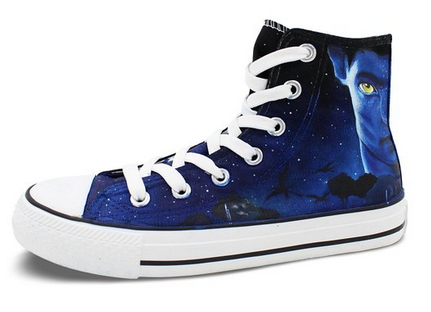 High Top Canvas Sneaker Avatar Converse All Star Hand Painted Me-1