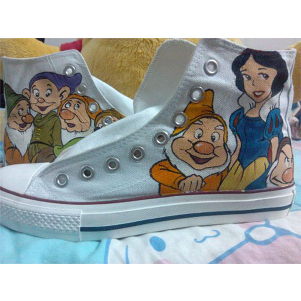 Disney High Top Converse Shoes  Disney's Snow White Anime Shoes