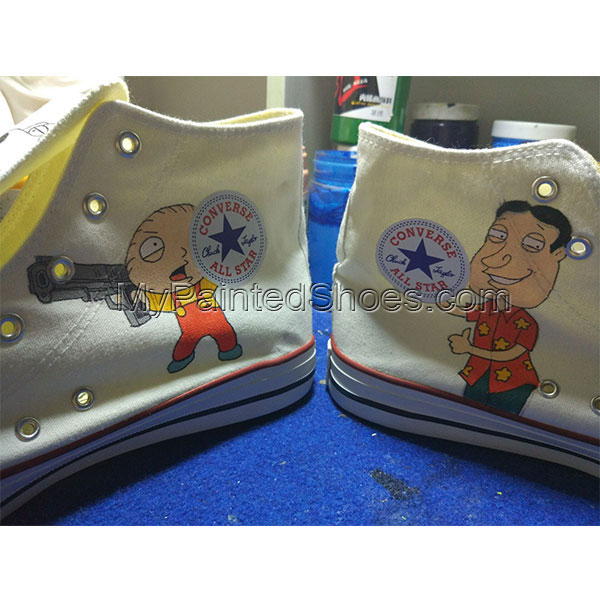 Family Guy High Top Converse Shoes Custom Converse Painted Shoes-3