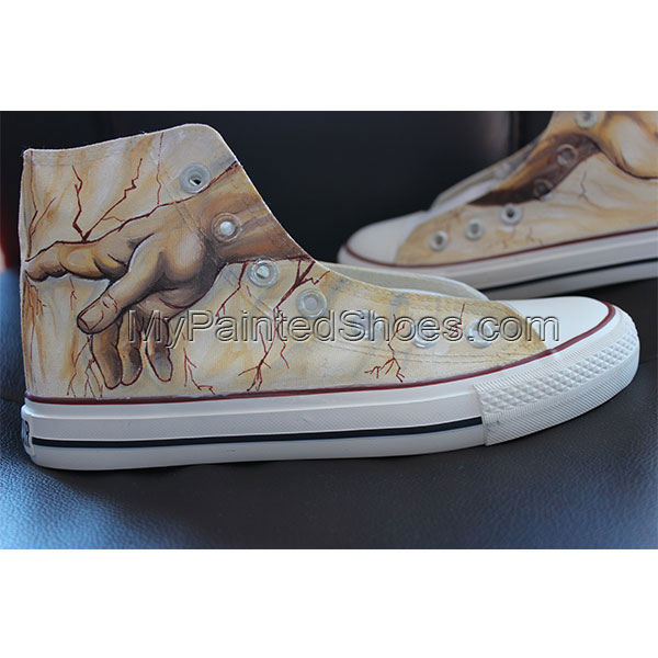 Creation of Adam Custom High-top Painted Canvas Shoes-4