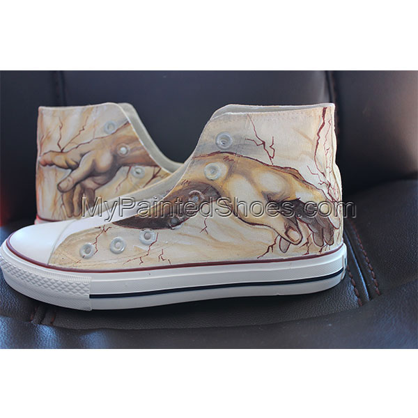 Creation of Adam Custom High-top Painted Canvas Shoes