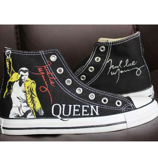Freddie Mercury High Top Converse Shoes Custom Converse Painted