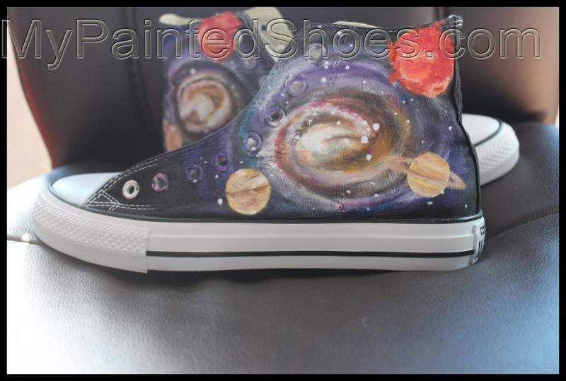 Custom Galaxy High Top Canvas Sneaker Galaxy Converse All Star H-1