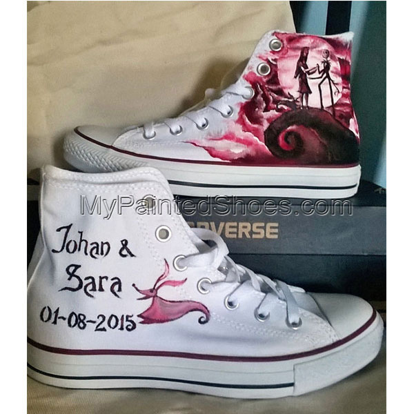 Nightmare before Christmas hand painted shoes custom-3