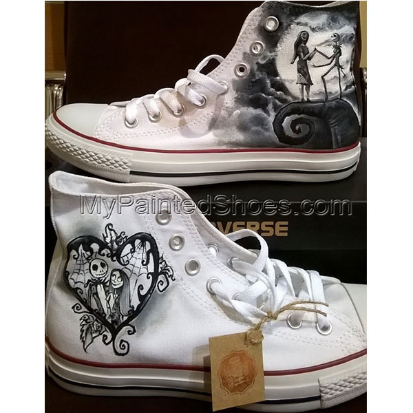 Nightmare before Christmas hand painted shoes custom