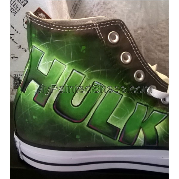 the Hulk custom hand painted shoes the Hulk shoes-3
