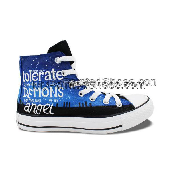 Police Box Doctor Who Men Women Shoes Design Hand Painted Canvas-1