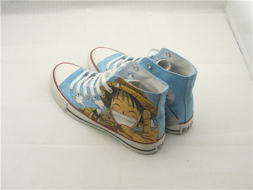 one piece anime Luffy shoes anime painted shoes-2