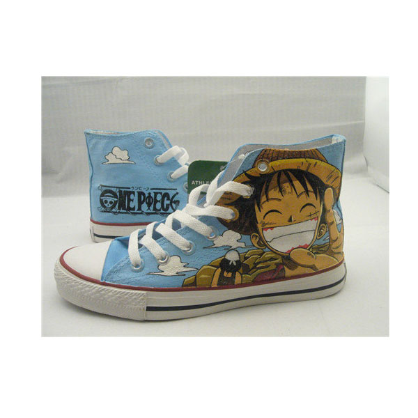 one piece anime Luffy shoes anime painted shoes