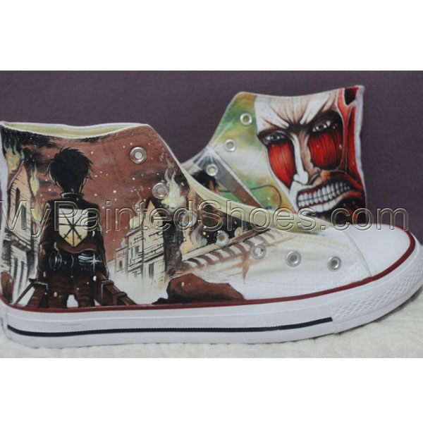 SAO Sword Art Online Anime Shoes Hand Painted Custom Design Canv-1