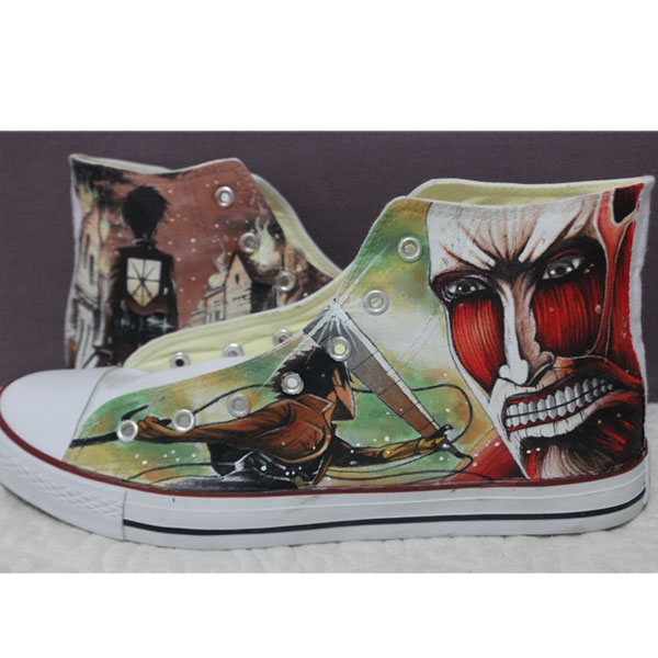 SAO Sword Art Online Anime Shoes Hand Painted Custom Design Canv