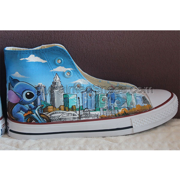 Stitch Charlotte Converse All Star Hand Painted Shoes-1