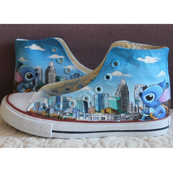 Stitch Charlotte Converse All Star Hand Painted Shoes