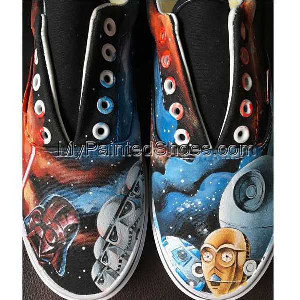 Hand painted Star Wars Sneakers for Adults Star Wars Sneakers fo-1